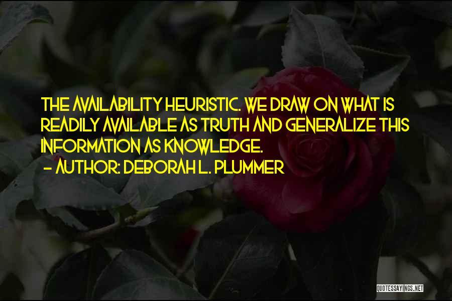 Do Not Generalize Quotes By Deborah L. Plummer