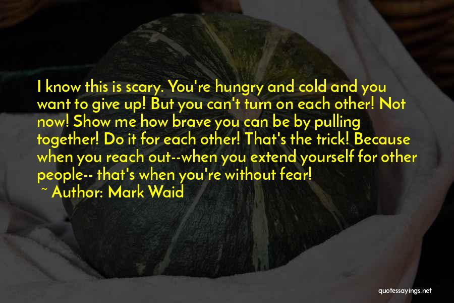 Do Not Give Up On Me Quotes By Mark Waid