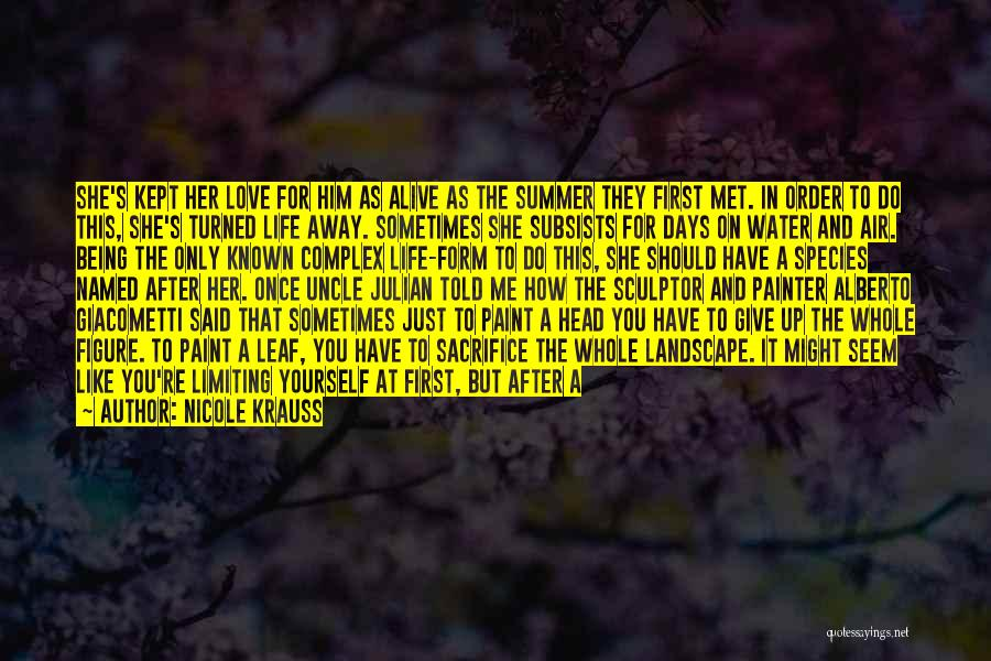 Do Not Give Up On Me Quotes By Nicole Krauss