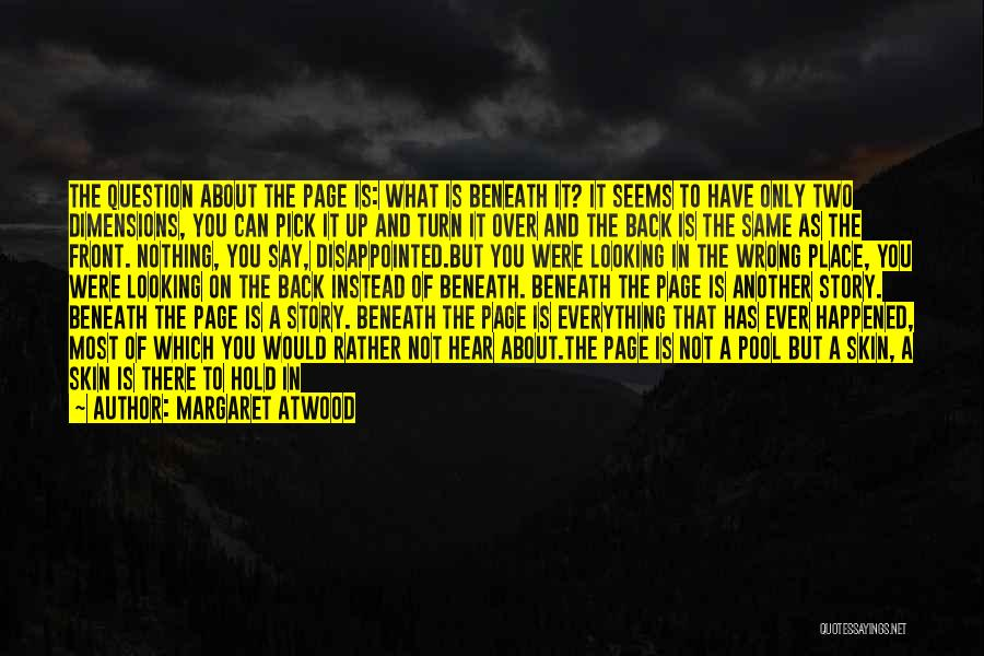 Do Not Turn Back Quotes By Margaret Atwood