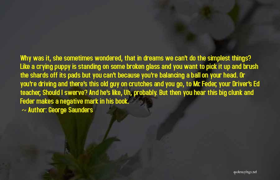 Do Things Because You Want To Quotes By George Saunders