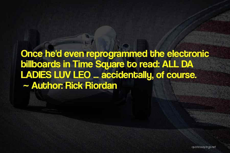 Do U Luv Me Quotes By Rick Riordan
