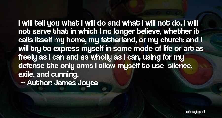 Do What You Believe In Quotes By James Joyce