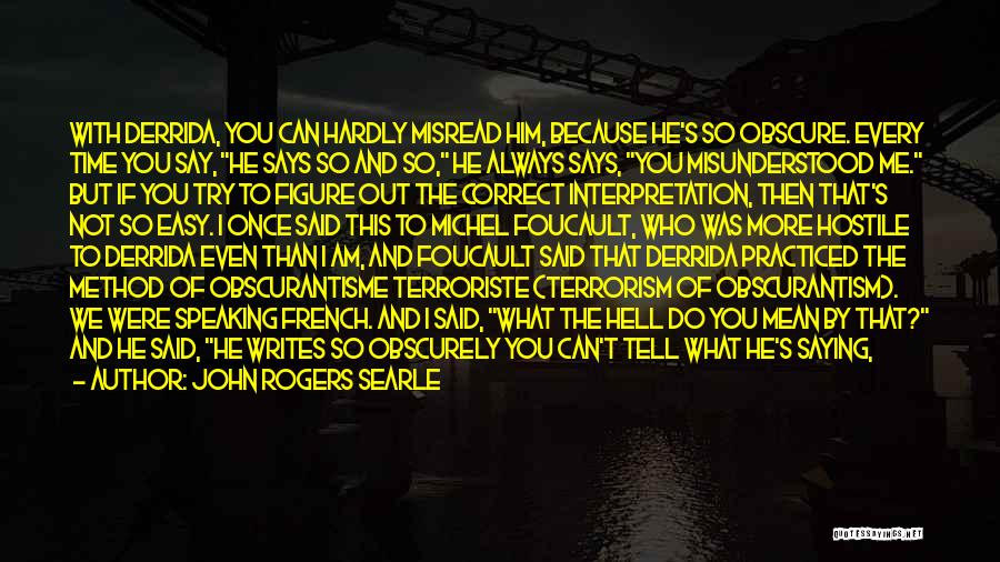 Do What You Mean Quotes By John Rogers Searle