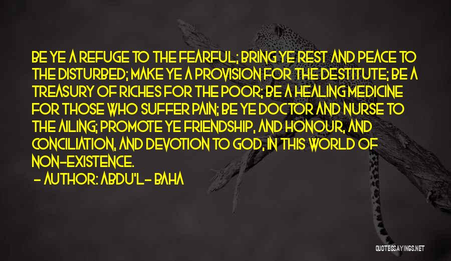 Doctors And Healing Quotes By Abdu'l- Baha