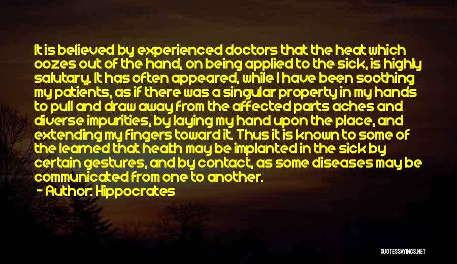Doctors And Healing Quotes By Hippocrates