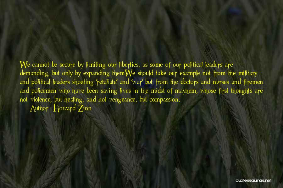 Doctors And Healing Quotes By Howard Zinn