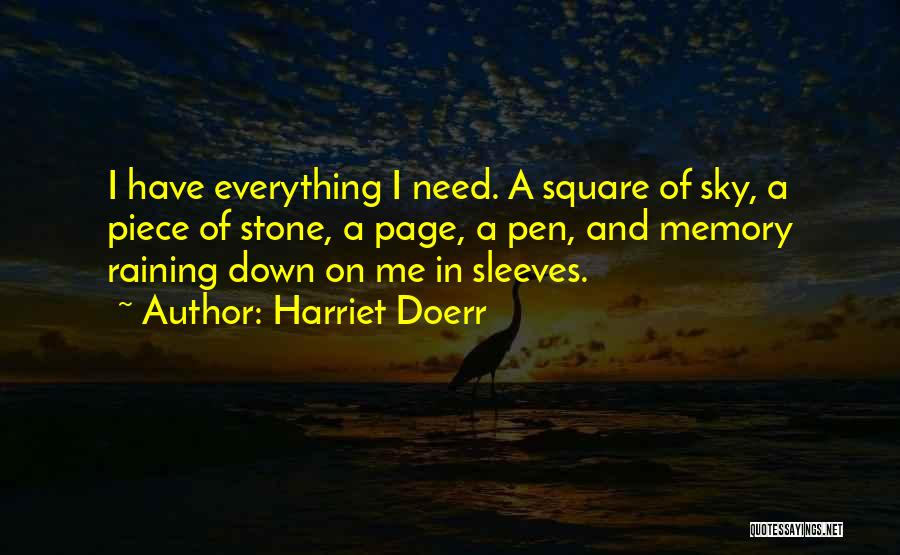 Doerr Quotes By Harriet Doerr