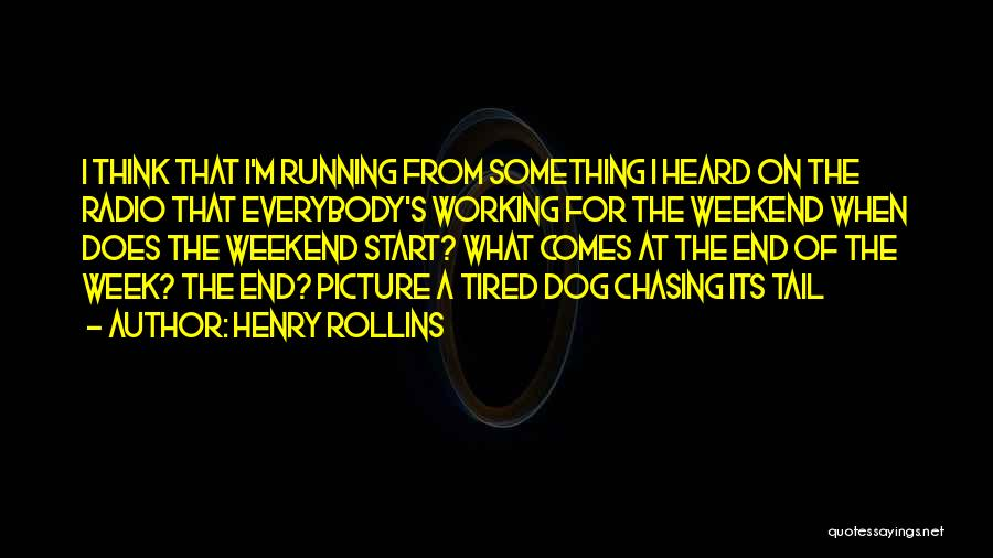 Dog Chasing Tail Quotes By Henry Rollins