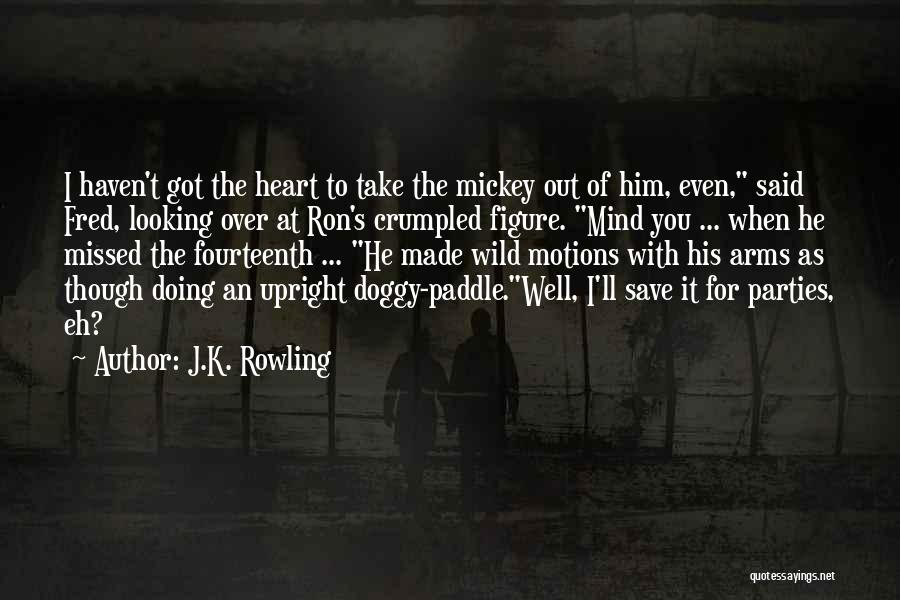 Doggy Quotes By J.K. Rowling