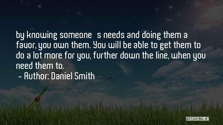 Doing A Lot For Someone Quotes By Daniel Smith