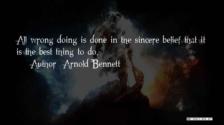 Doing Best Quotes By Arnold Bennett