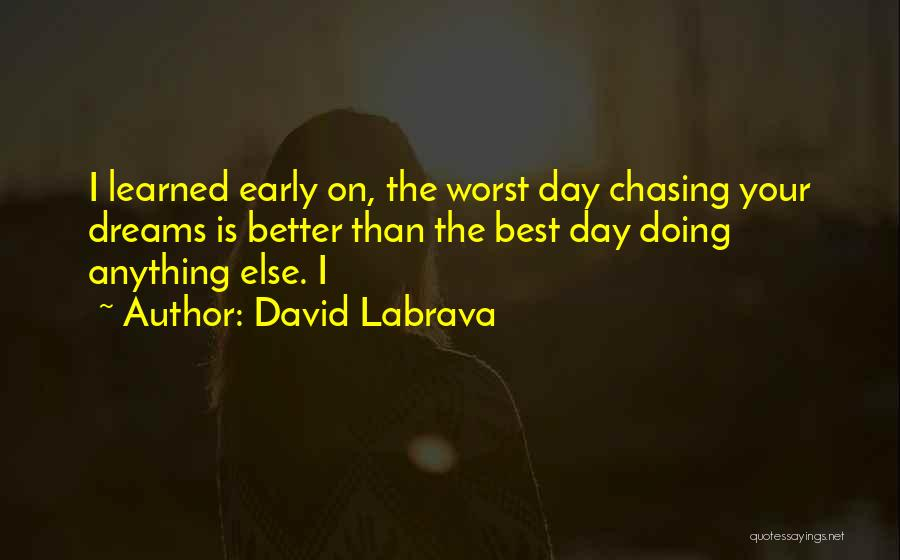 Doing Best Quotes By David Labrava