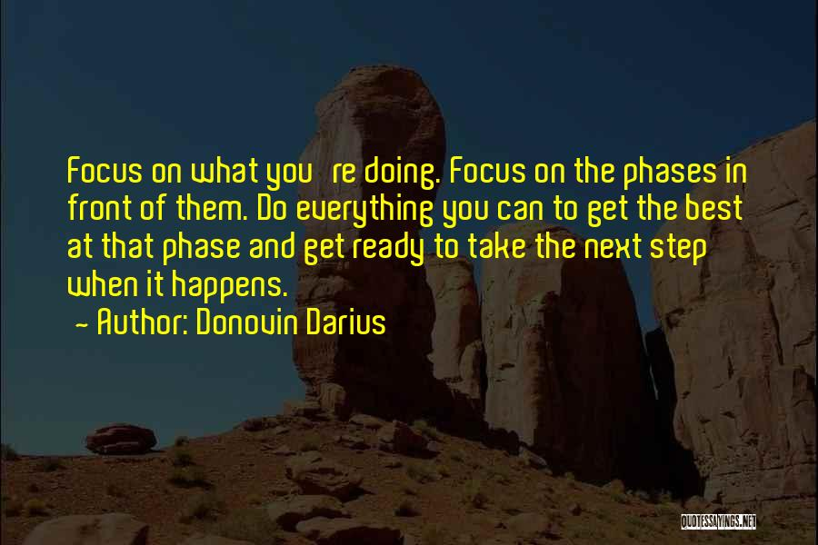 Doing Best Quotes By Donovin Darius