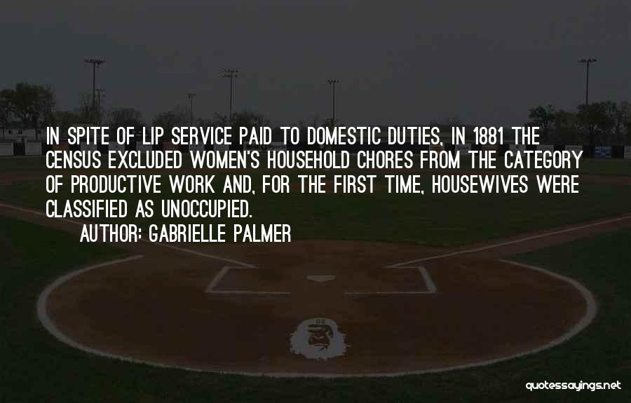 Doing Household Chores Quotes By Gabrielle Palmer