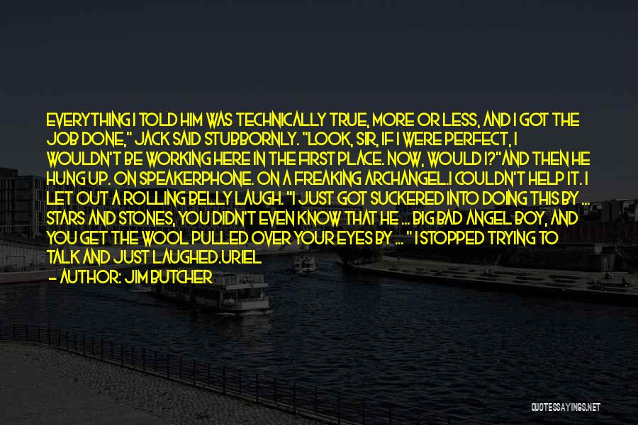 Doing Job Well Quotes By Jim Butcher