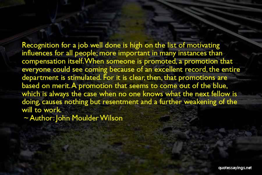 Doing Job Well Quotes By John Moulder Wilson