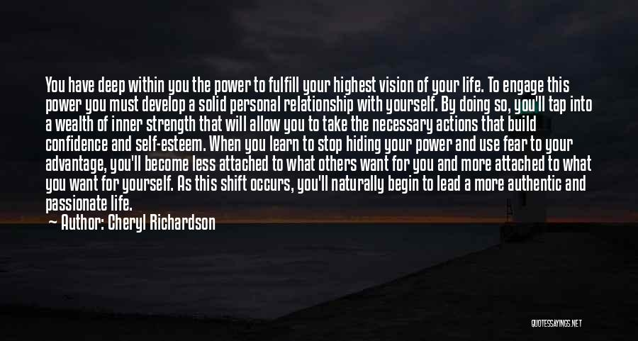 Doing More For Others Quotes By Cheryl Richardson