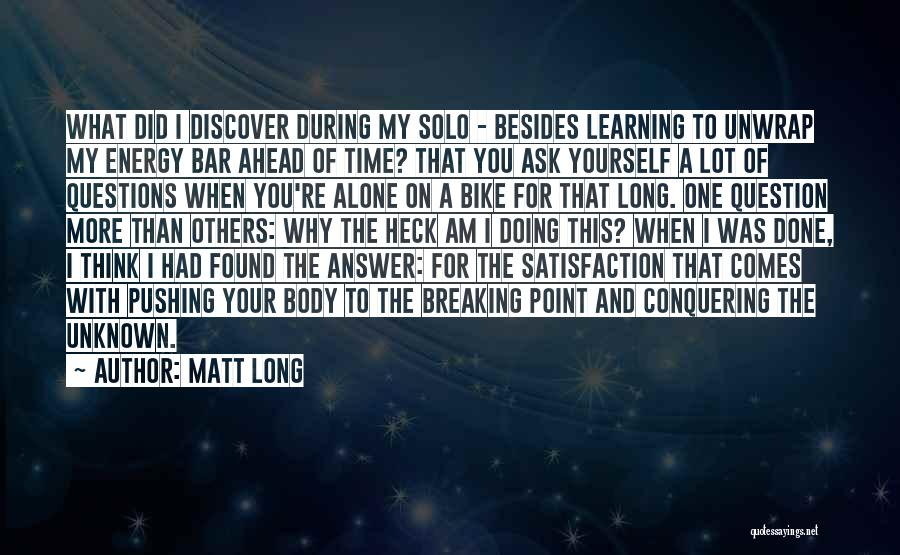 Doing More For Others Quotes By Matt Long
