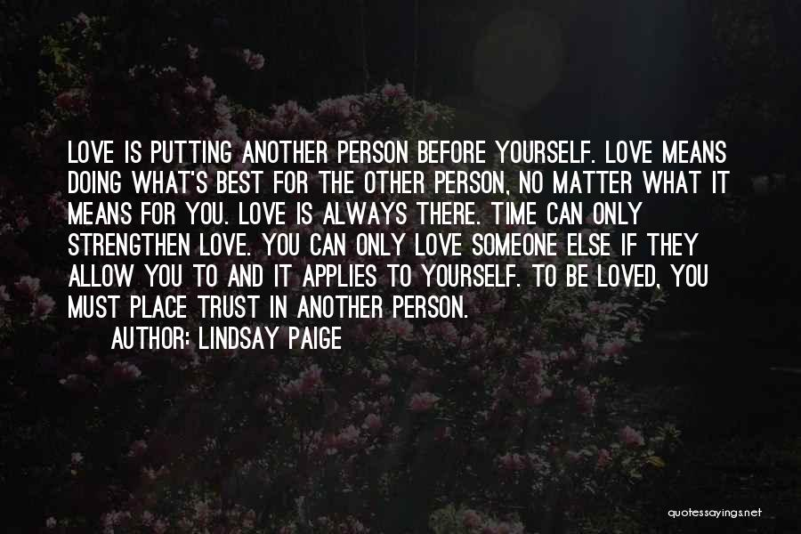 Doing Only What You Can Quotes By Lindsay Paige