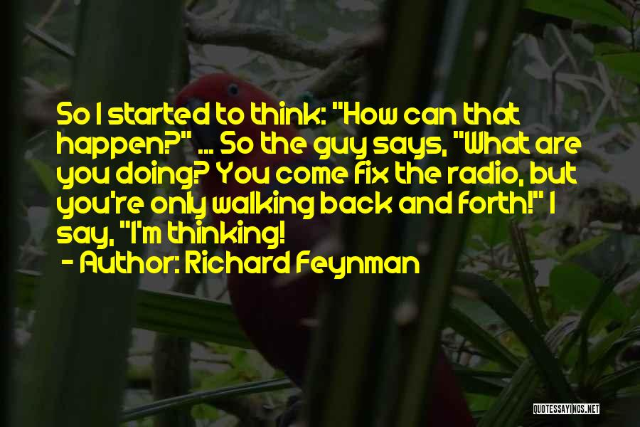 Doing Only What You Can Quotes By Richard Feynman