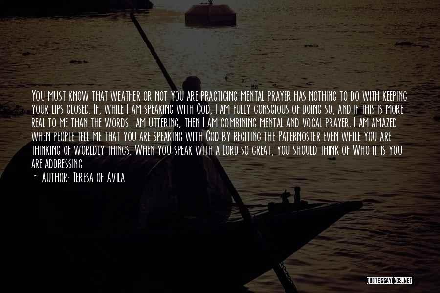 Doing Only What You Can Quotes By Teresa Of Avila