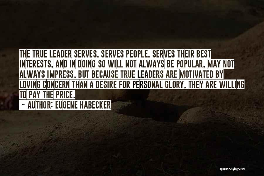 Doing Personal Best Quotes By Eugene Habecker