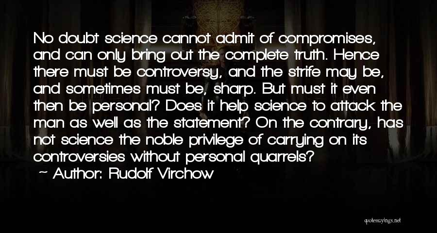 Doing Personal Best Quotes By Rudolf Virchow