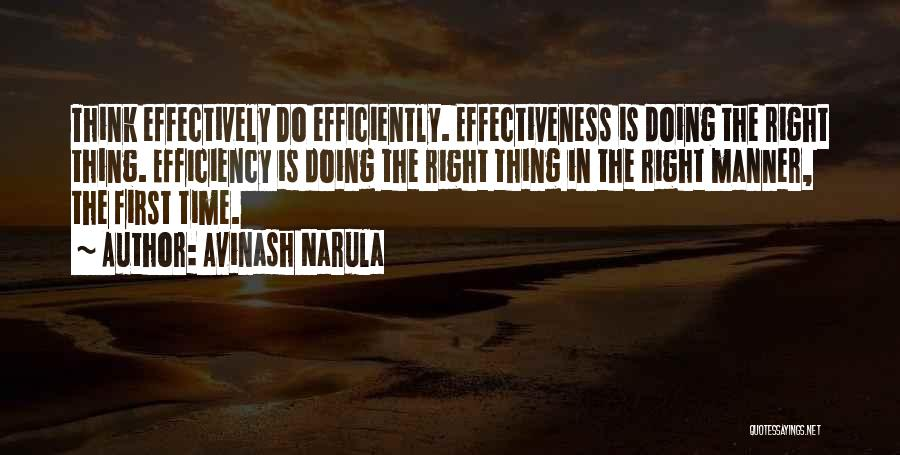 Doing Right First Time Quotes By Avinash Narula