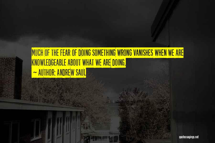 Doing Something Wrong Quotes By Andrew Saul