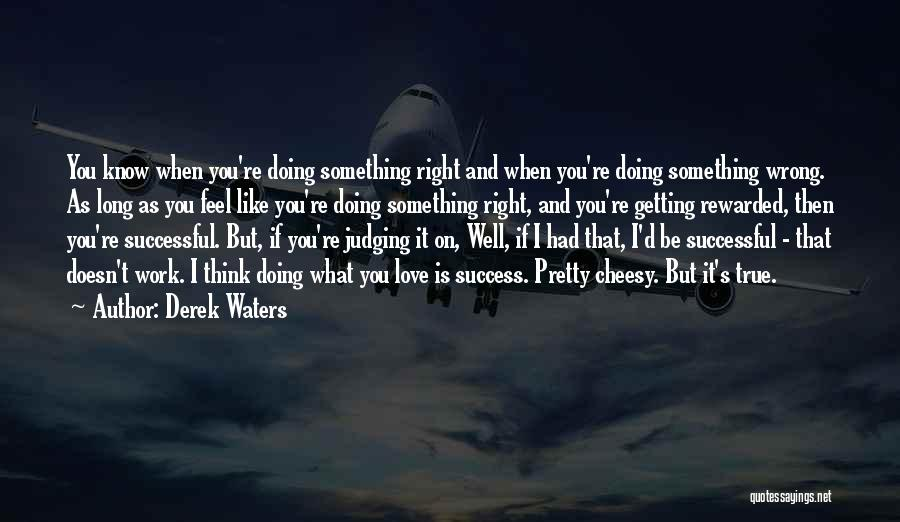 Doing Something Wrong Quotes By Derek Waters