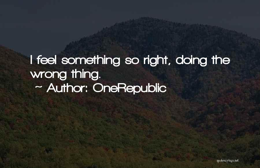 Doing Something Wrong Quotes By OneRepublic