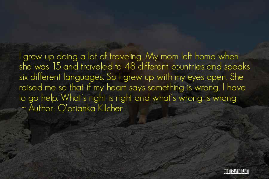 Doing Something Wrong Quotes By Q'orianka Kilcher