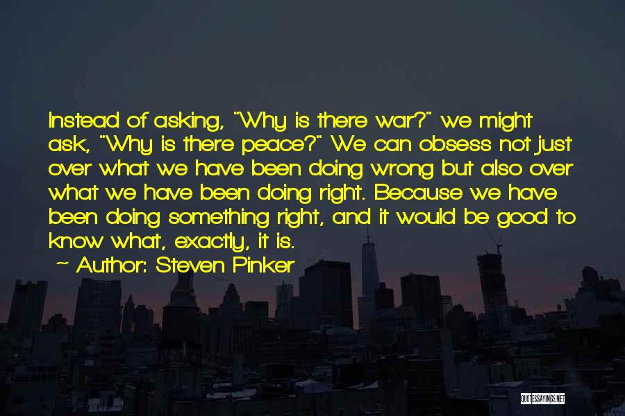 Doing Something Wrong Quotes By Steven Pinker