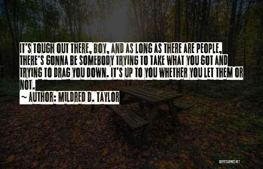 Doing Tough Things Quotes By Mildred D. Taylor