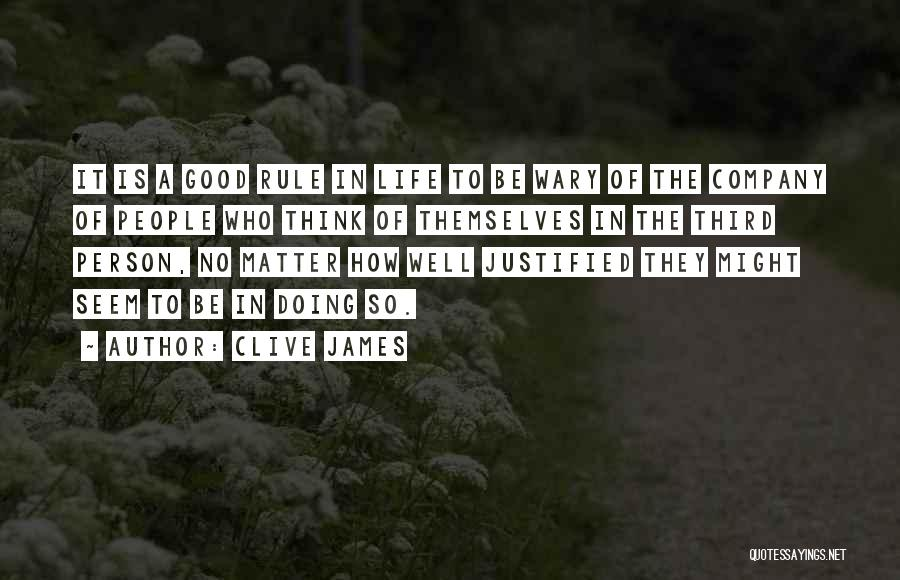Doing Well In Life Quotes By Clive James