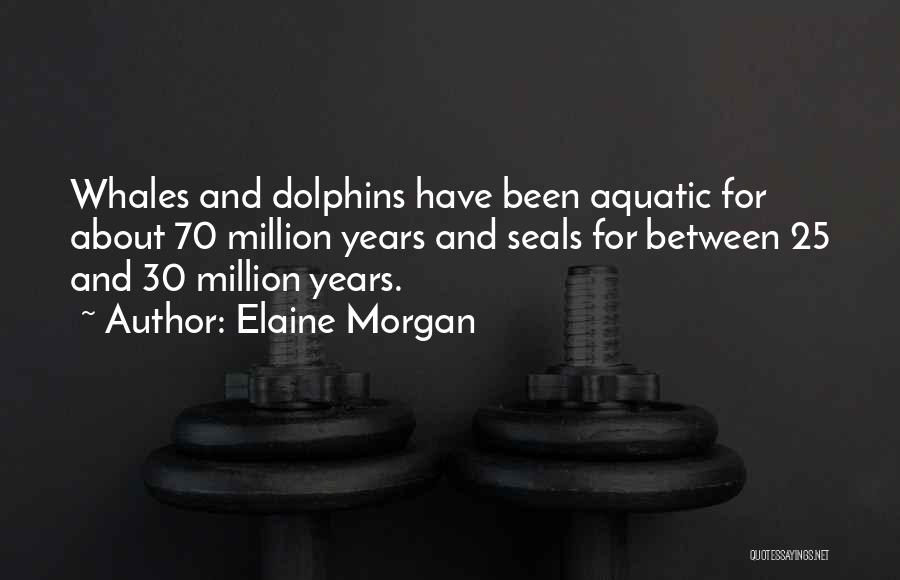 Dolphins And Whales Quotes By Elaine Morgan