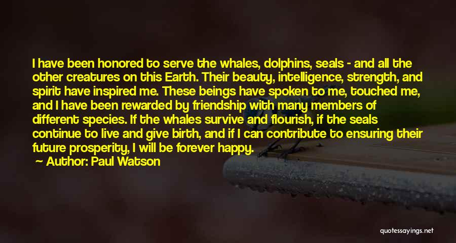 Dolphins And Whales Quotes By Paul Watson