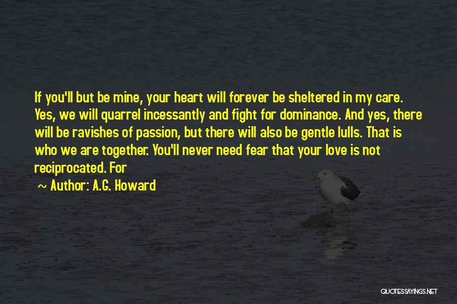 Dominance Love Quotes By A.G. Howard