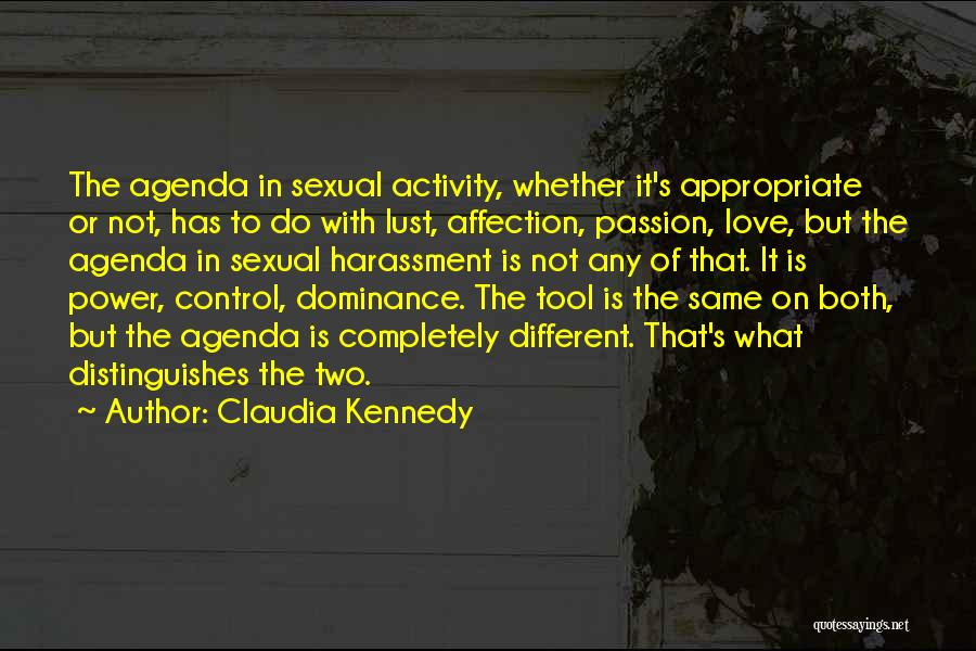 Dominance Love Quotes By Claudia Kennedy