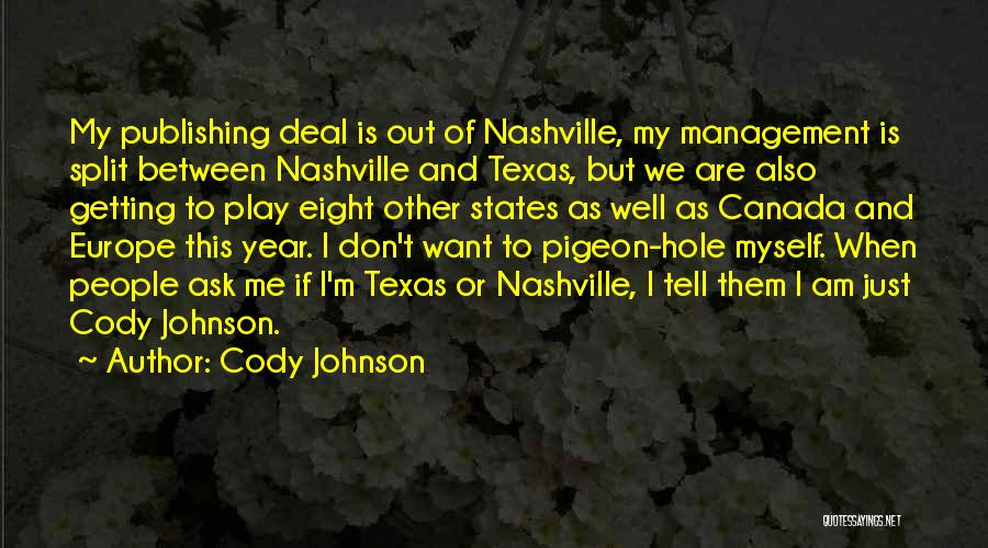 Don Ask Don Tell Quotes By Cody Johnson