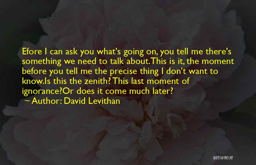 Don Ask Don Tell Quotes By David Levithan