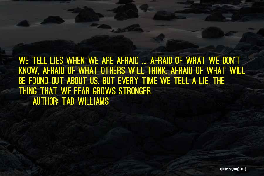 Don Be Afraid Of Fear Quotes By Tad Williams