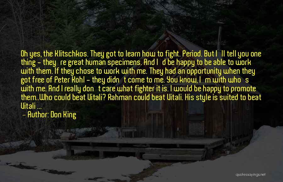 Don King Quotes 1251030