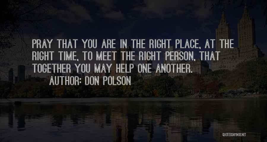Don Polson Quotes 1030292