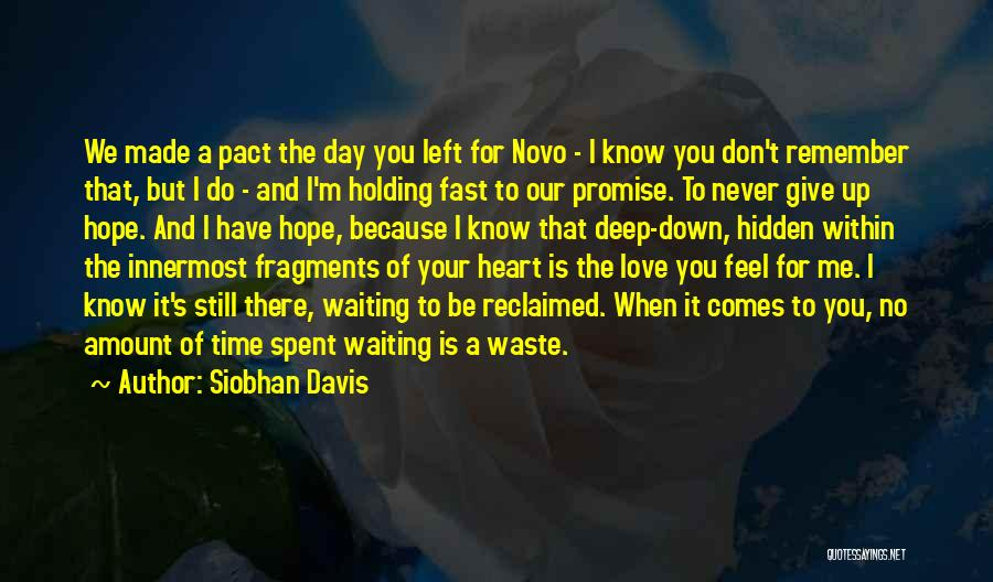Don Waste Time Love Quotes By Siobhan Davis