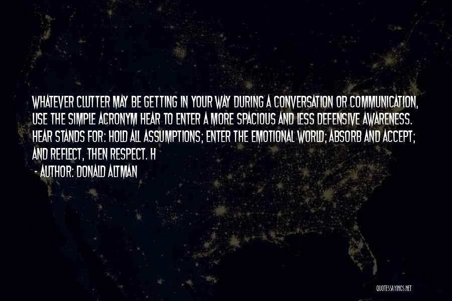 Donald Altman Quotes 1158218