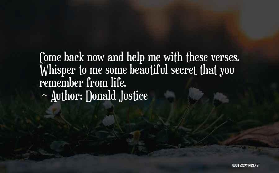 Donald Justice Quotes 2147956
