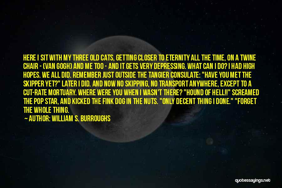 Done All I Can Do Quotes By William S. Burroughs