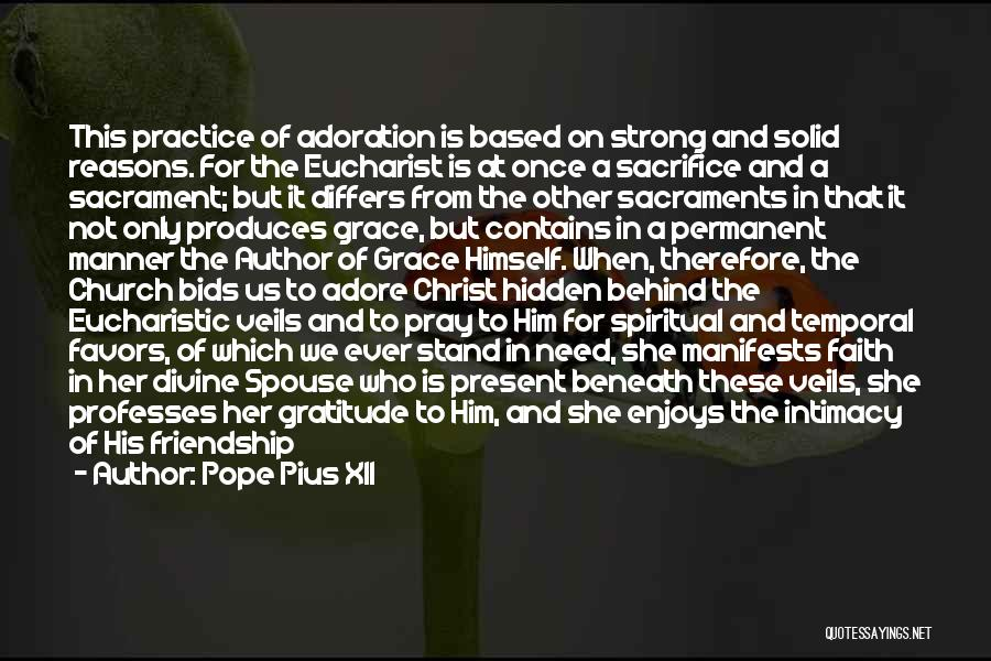 Done Doing Favors Quotes By Pope Pius XII